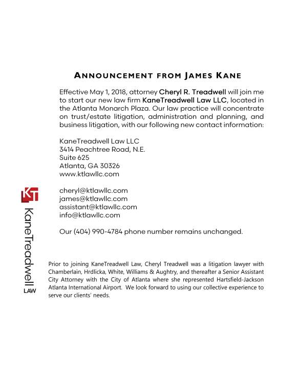 KaneTreadwell Announcement